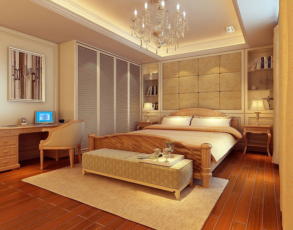 Classical American Bedroom Interior Luxury Nuance 7993