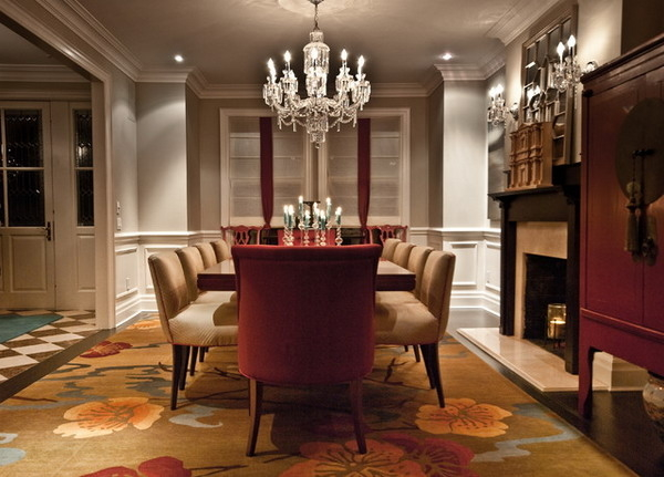 Formal Luxury Dining Room With Crystal Chandelier 6122