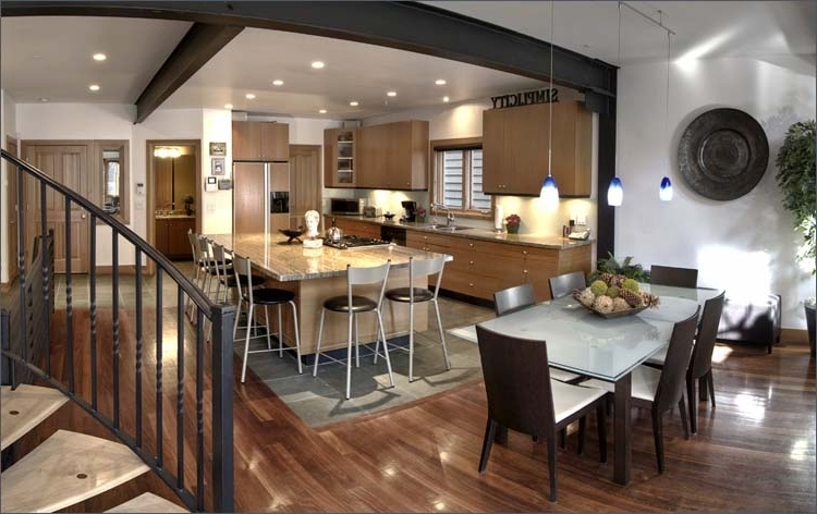 modern living room setup decor ideas simple luxury kitchen and dining combination #6146 ...