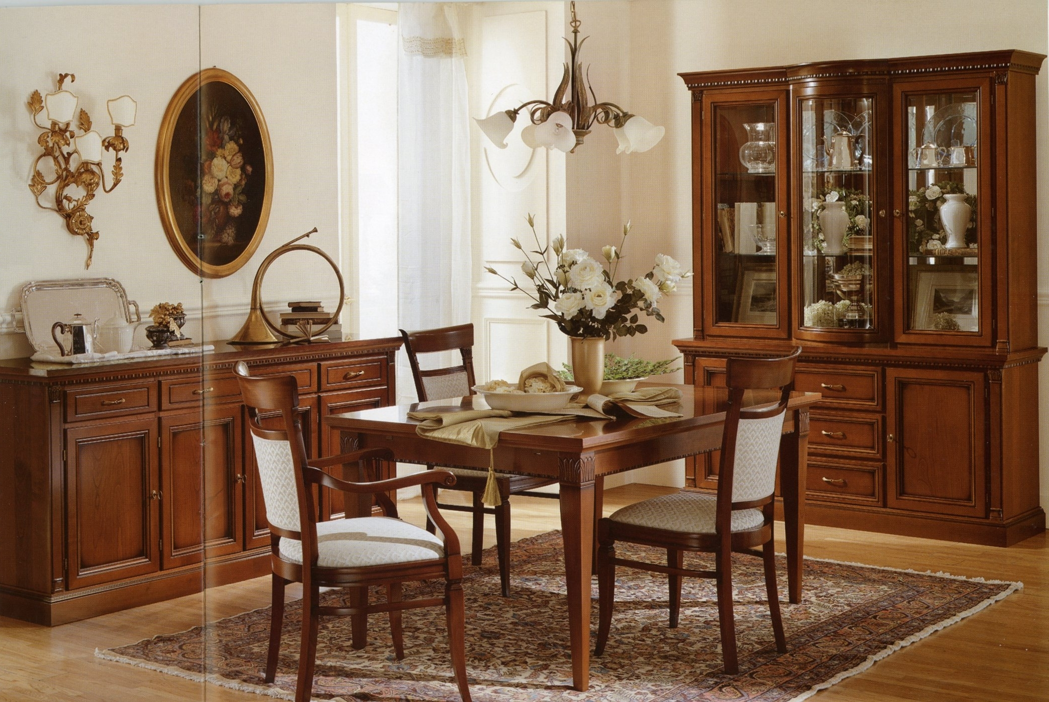 Wooden Italian Dining Room Buffet 8437  House Decoration