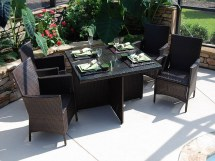 Black and Red Outdoor Furniture