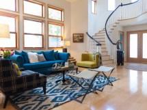 Modern Blue Sofa Living Room Decoration #16189