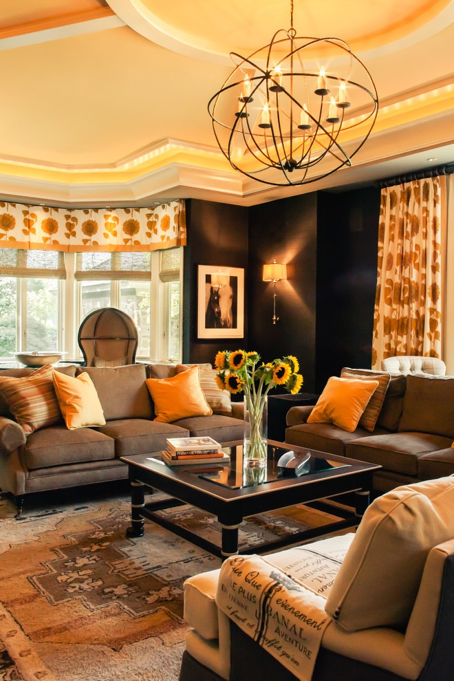 Sophisticated European Style Living Room Decor 16022  Living Room Ideas