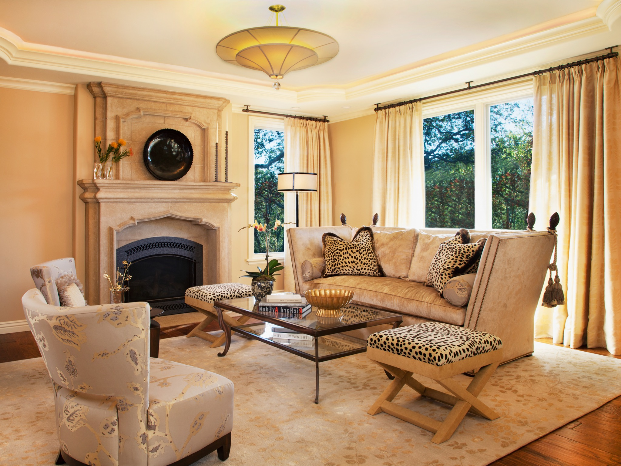 Mediterranean Living Room Design With Relaxed Mood #16216