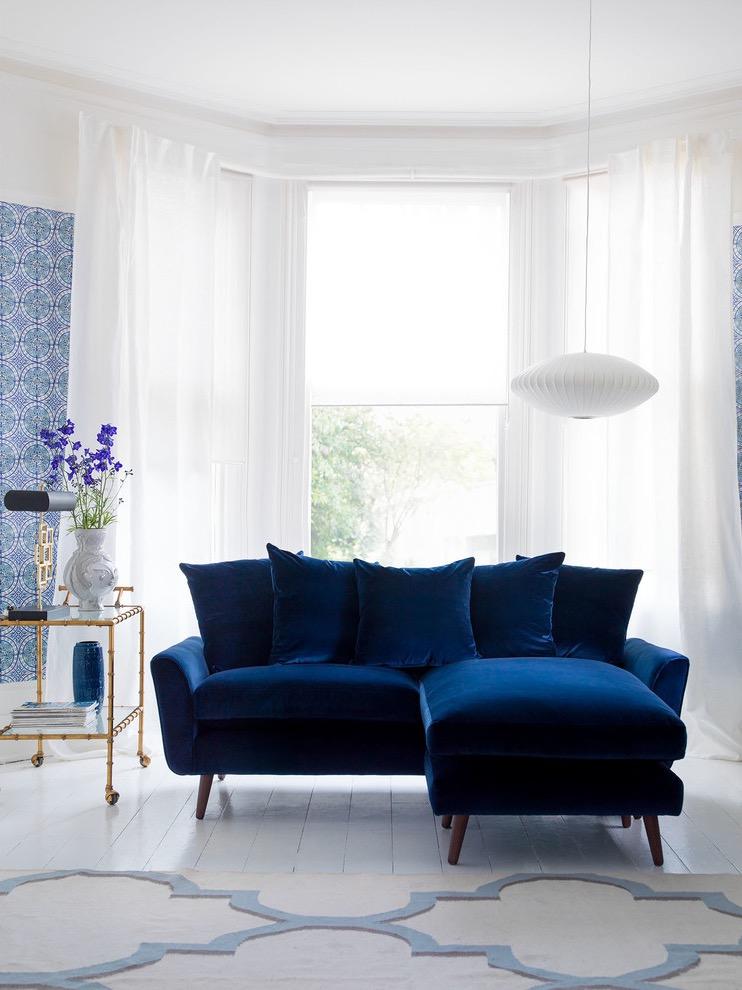 Modern Blue Sofa For Living Room Decoration 16189  Furniture Ideas