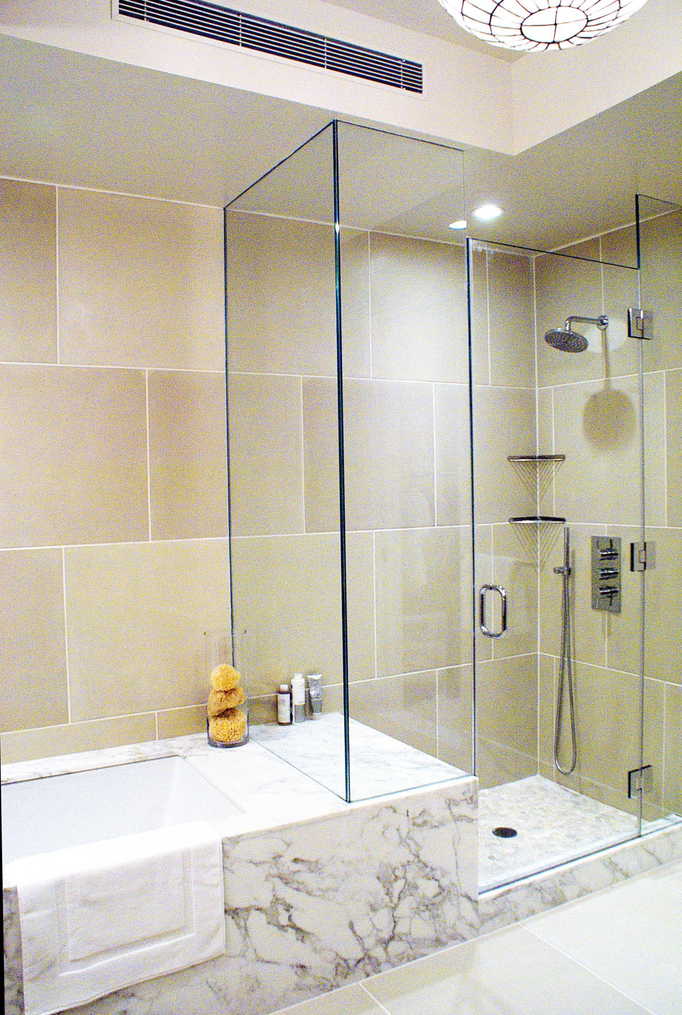 Bathroom Shower And Tub Combination Ideas #15030