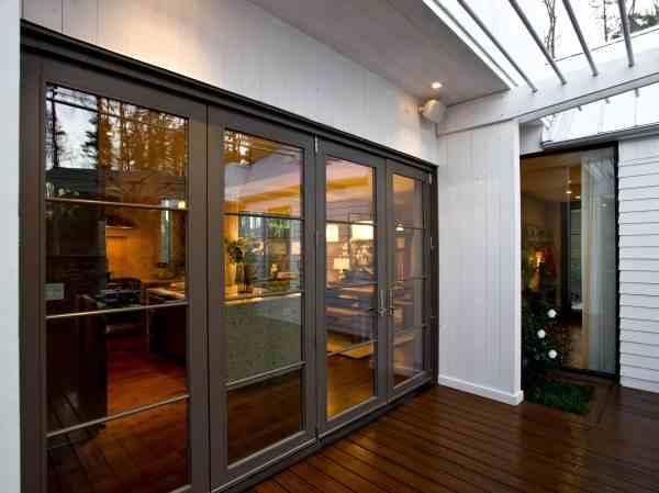 Contemporary Window Treatment Sliding Glass Door