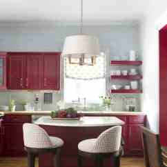 Burgundy Kitchen Curtains Rooster Canister Sets Modern Ideas #6266 |