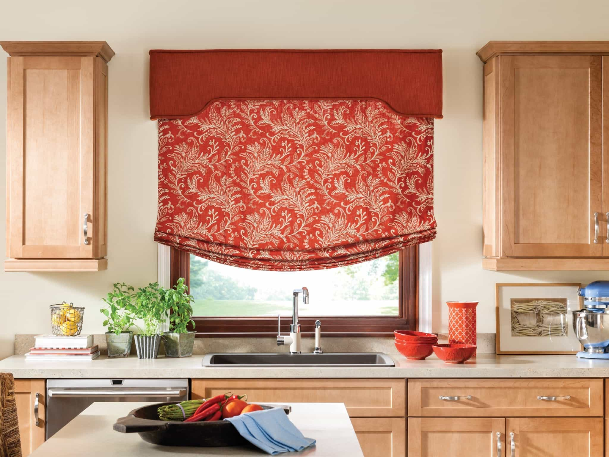red valances for kitchen windows table with bench and chairs impressive diy window curtains 23637 ideas