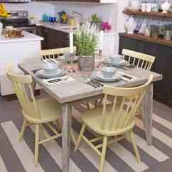 Coastal Kitchen Table Play Island With Whitewashed Dining 50338