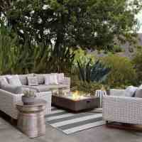 Contemporary Outdoor Rug And Furniture With Fireplace Gallery