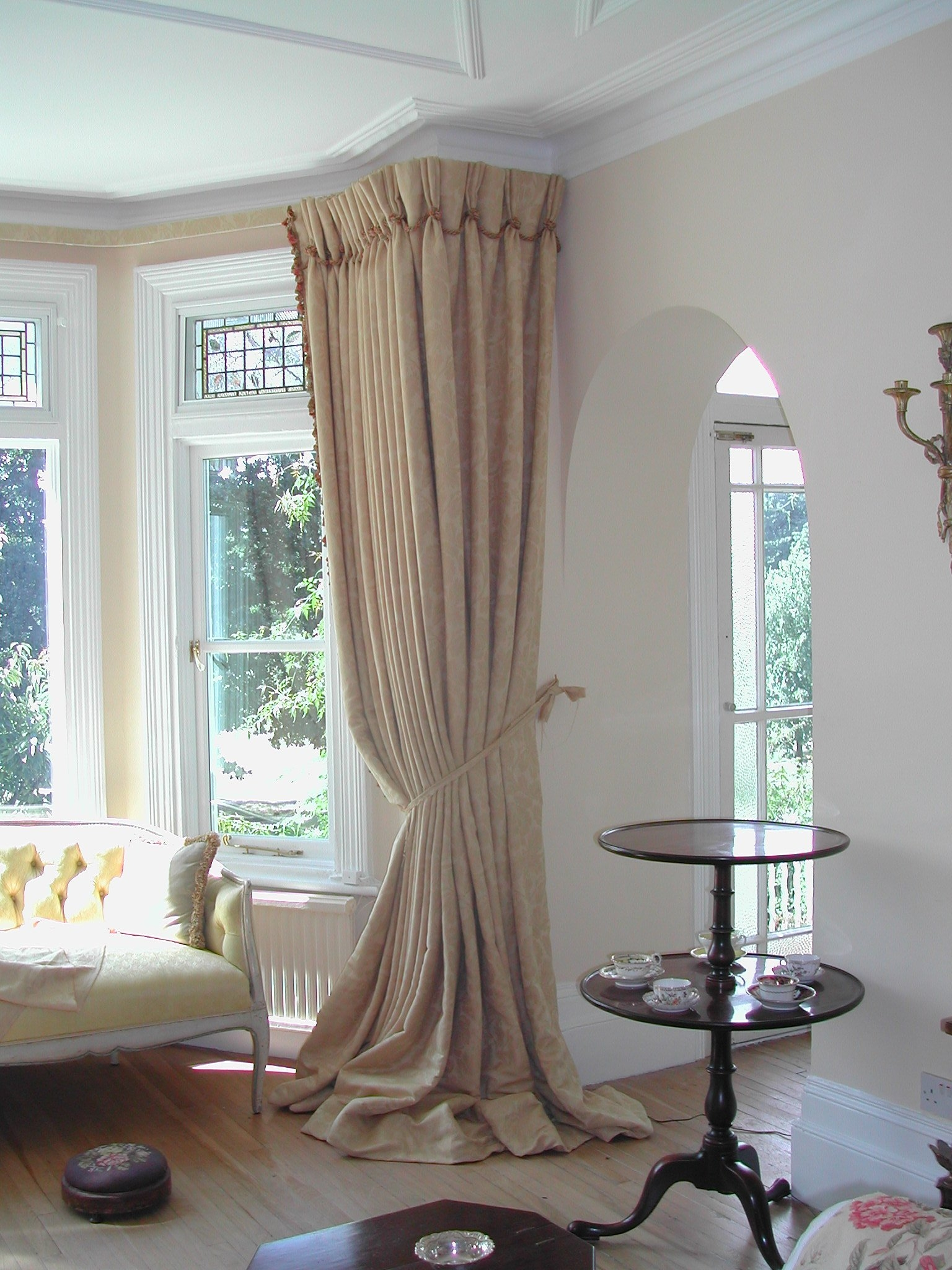 bay window kitchen curtains bridal shower invitations theme 15 best ideas for round windows curtain