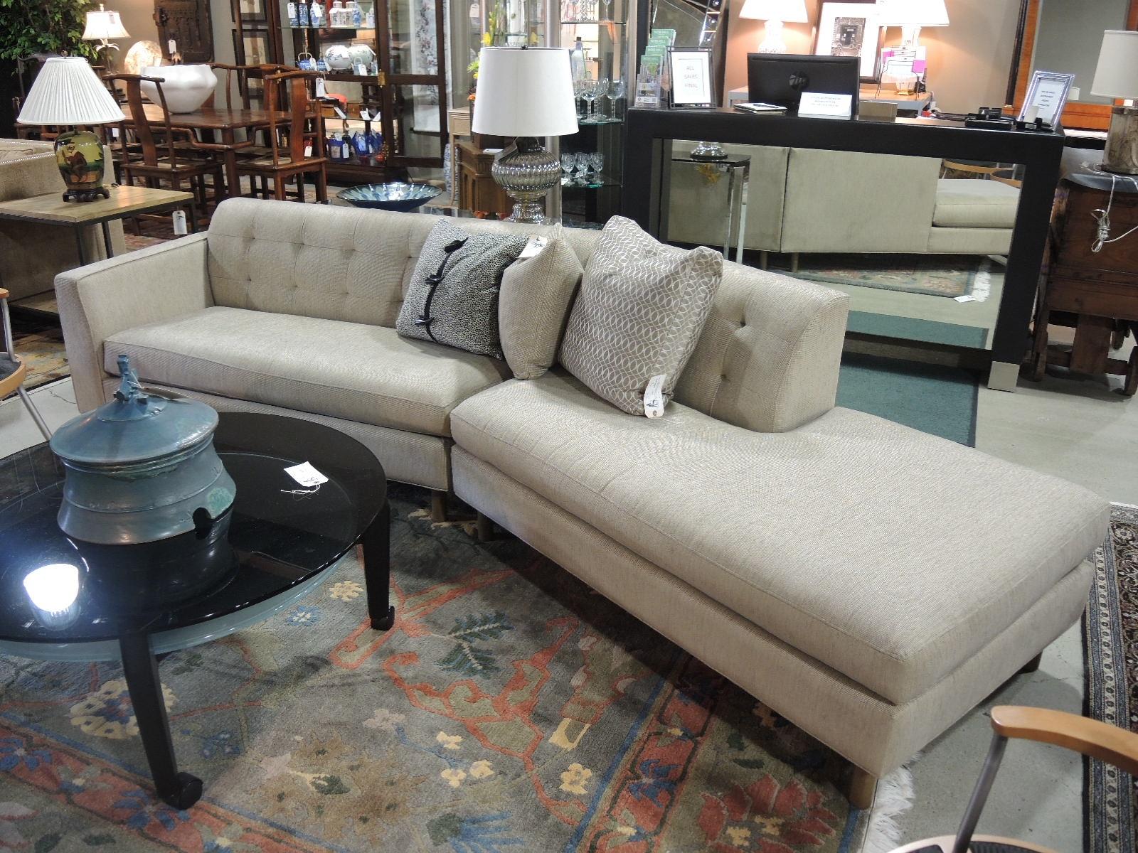 right angled sectional sofa modern white harvey probber
