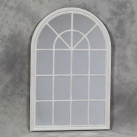 15 Inspirations White Arched Window Mirror | Mirror Ideas
