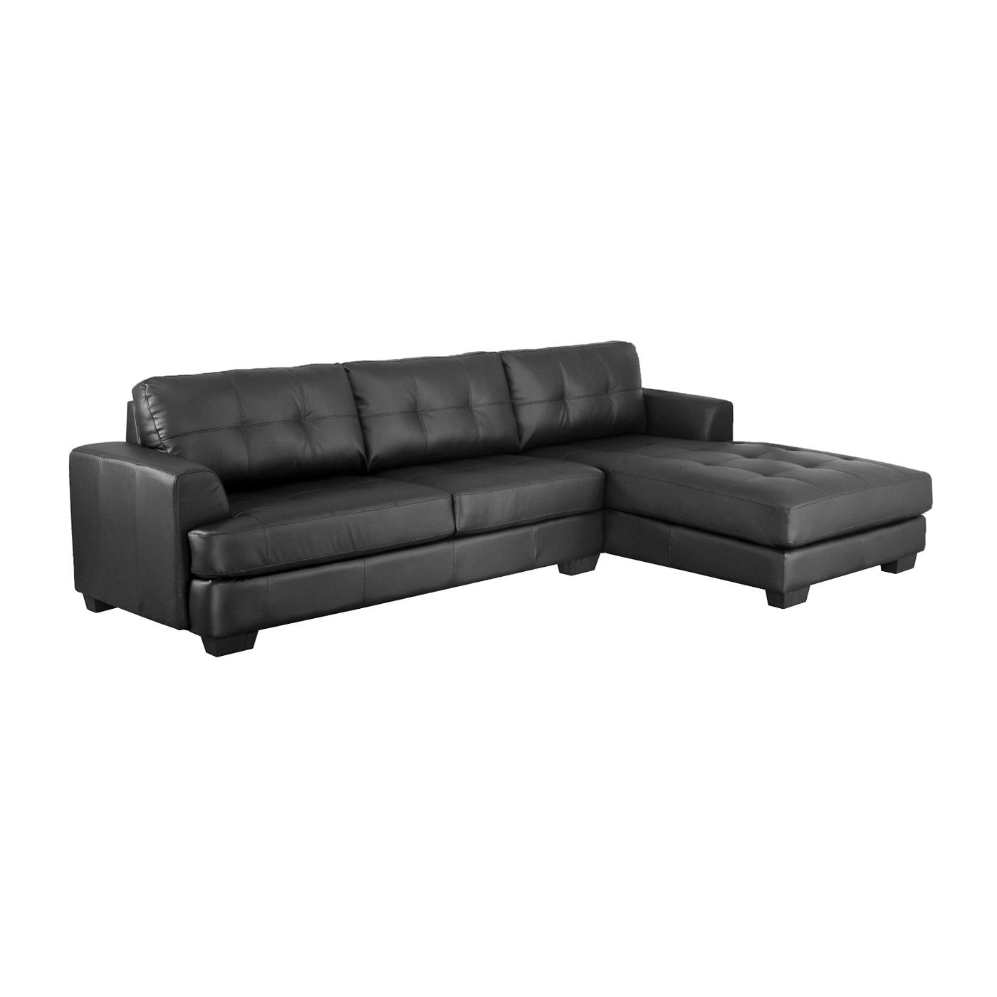 baxton studio dobson leather modern sectional sofa furniture village co uk sofas chairs ideas