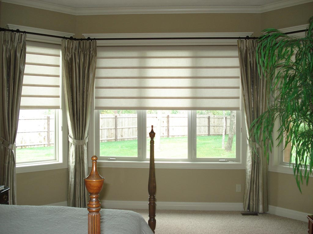 Bay Window Blinds and Curtains  Curtain Ideas