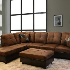 Abbyson Living Westbury Leather Sectional Sofa Black Dfs Protection Spray 15 43 Charlotte Dark Brown And
