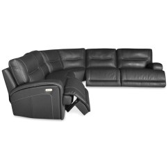 Caruso Leather 5 Piece Power Motion Sectional Sofa Simmons Check Plush Mocha 15 Best Ideas 6