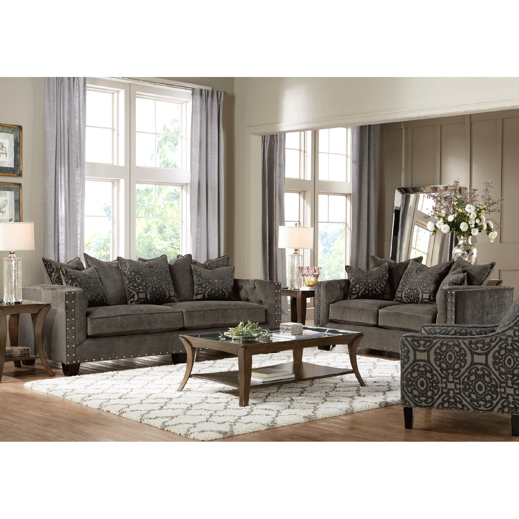 cindy crawford home sidney road sofa gray year of clean water rh yearofcleanwater org