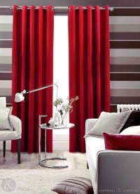 Red Velvet Curtains Living Room | Curtain Menzilperde.Net