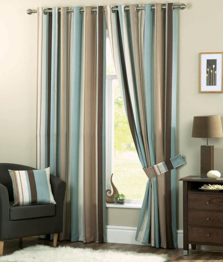 Green and Cream Striped Curtains  Curtain Ideas
