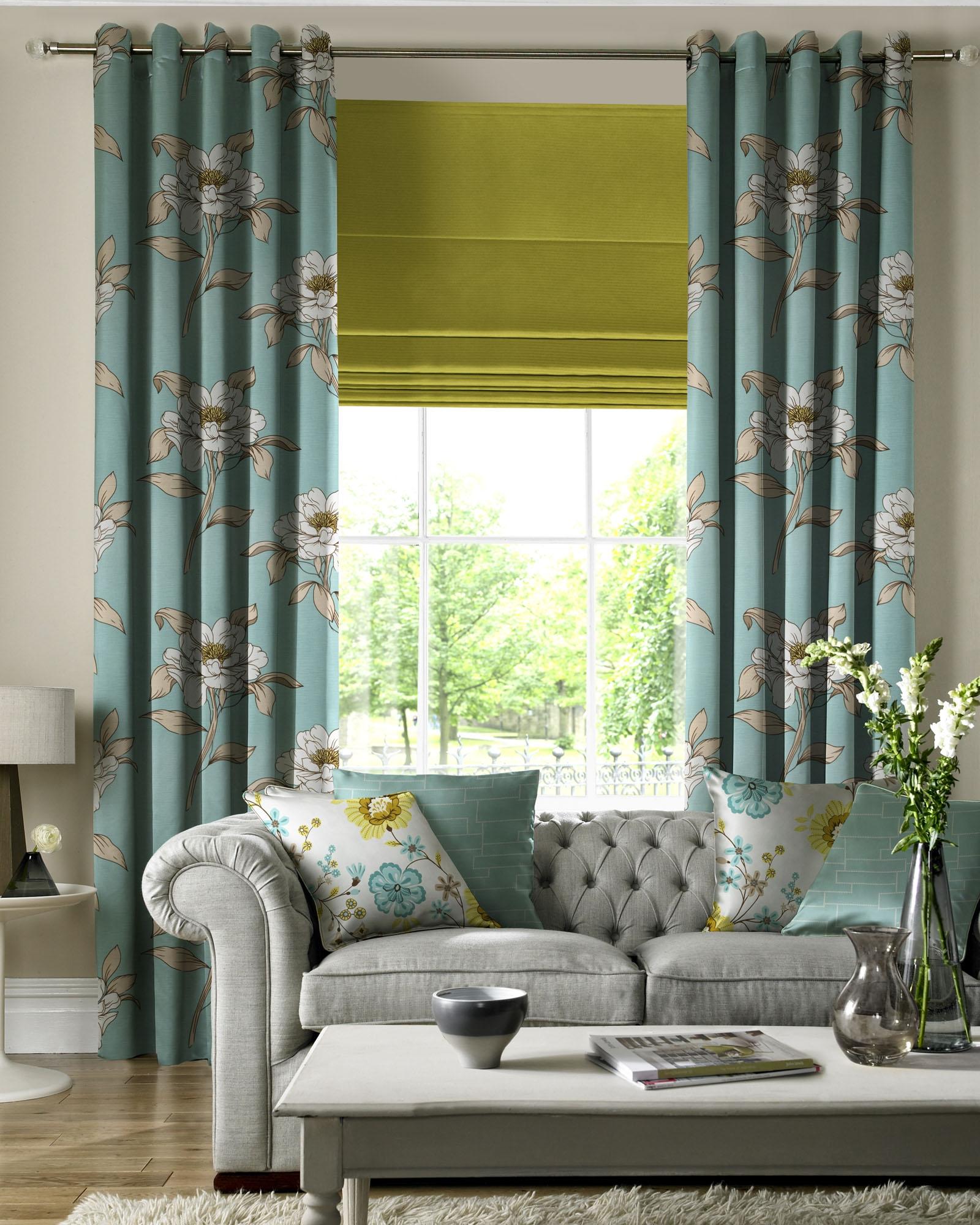 Curtains With Matching Roman Blinds  Curtain Menzilperdenet