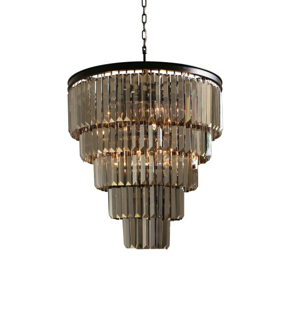 Collection Of Smoked Glass Chandelier Ideas