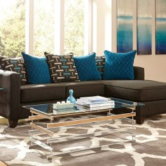Cheap Sofa Sets 5 Seater Klaussner Canyon Sectional In Sky Blue Microsuede 15 Best Ideas 7 Seat