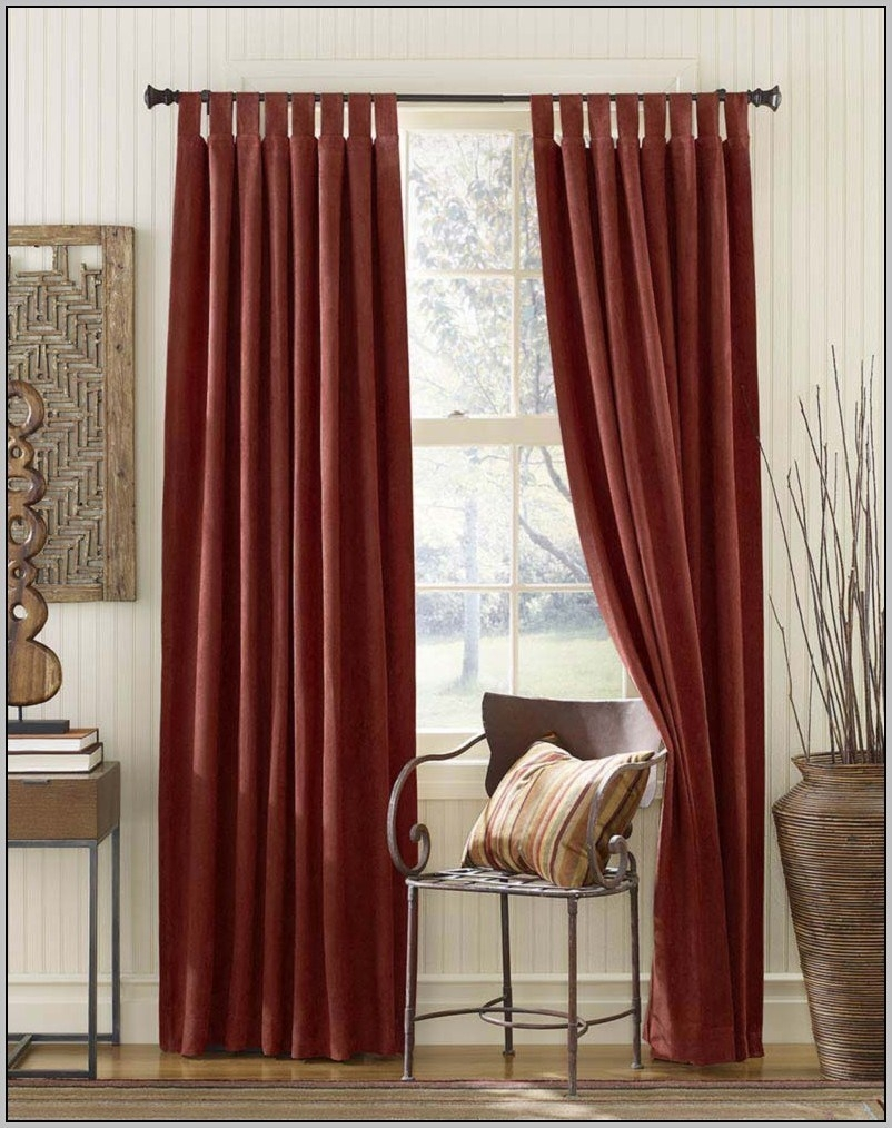 15 Collection of Extra Long Red Curtains  Curtain Ideas
