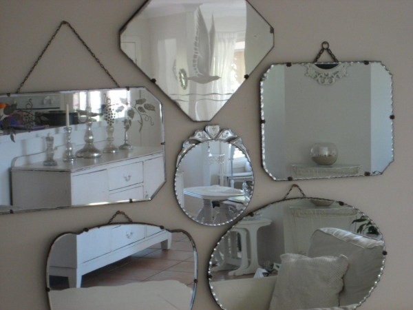 Vintage Frameless Wall Mirrors