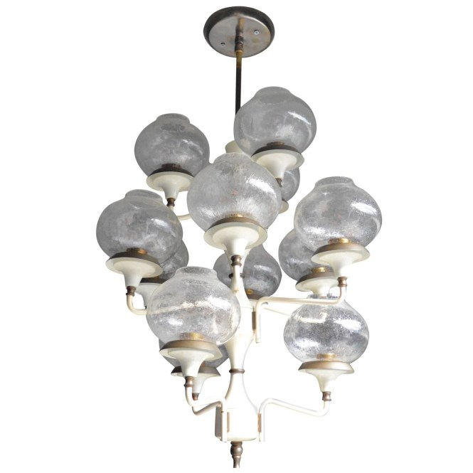 Italian Chandelier In The Style Of Stilnovo Main Regarding Image 9