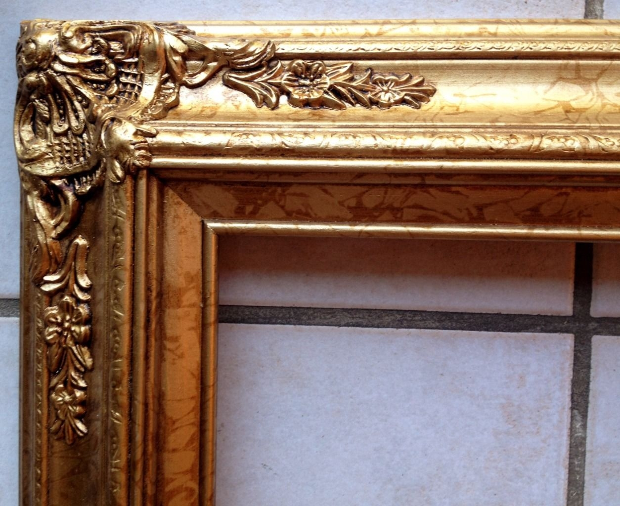 15 Photos Large Ornate Gold Mirror