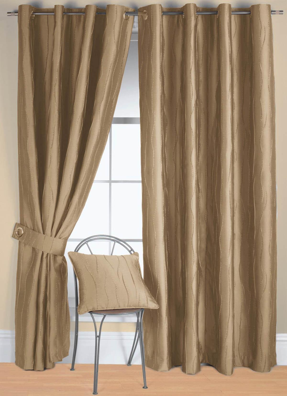 Cream and Gold Eyelet Curtains  Curtain Ideas