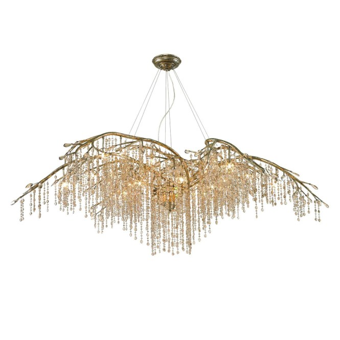 Qz990 Golden Lighting Autumn Twilight Goldsilver Clear Crystal With Regard To Branch Chandelier Image