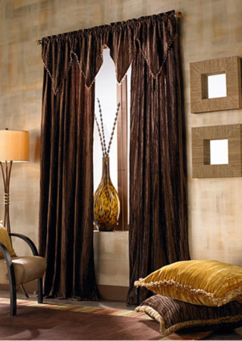 15 Best Collection Of Dark Brown Velvet Curtains Curtain Ideas