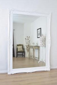 Large White Shabby Chic Mirror | Mirror Ideas