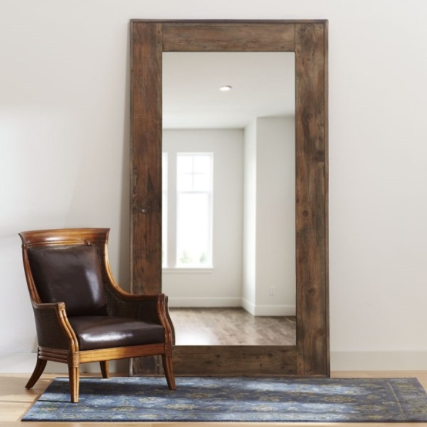 Vintage Wood Floor Mirror