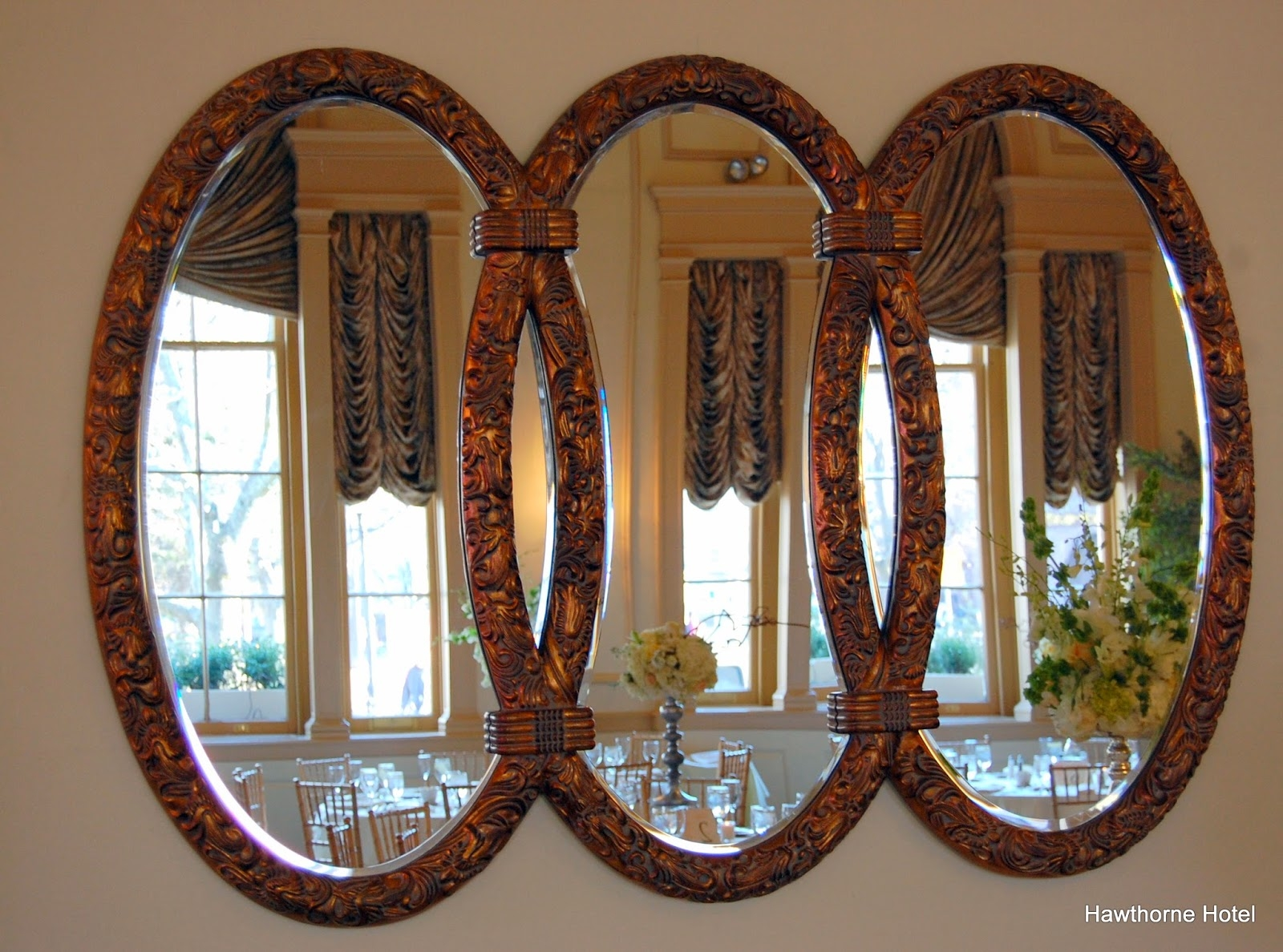 15 Inspirations Triple Oval Mirror