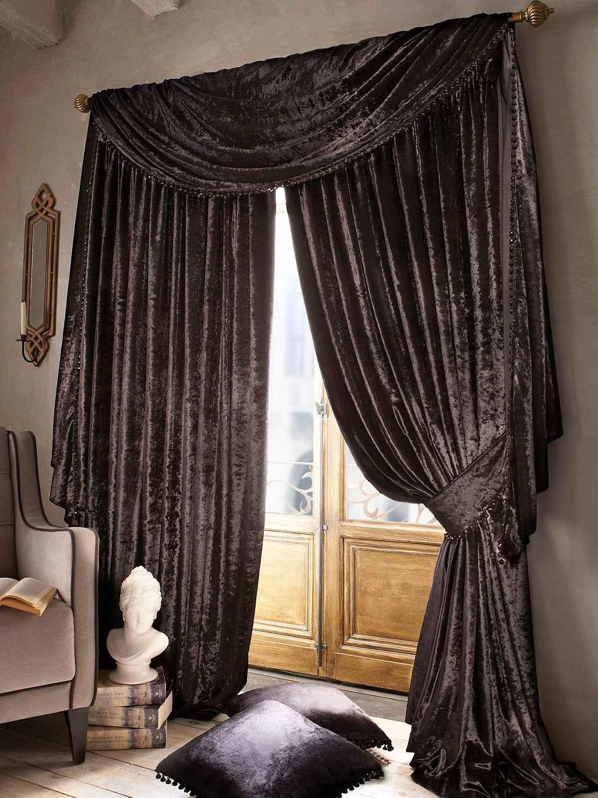 15 Best Collection of Dark Brown Velvet Curtains  Curtain
