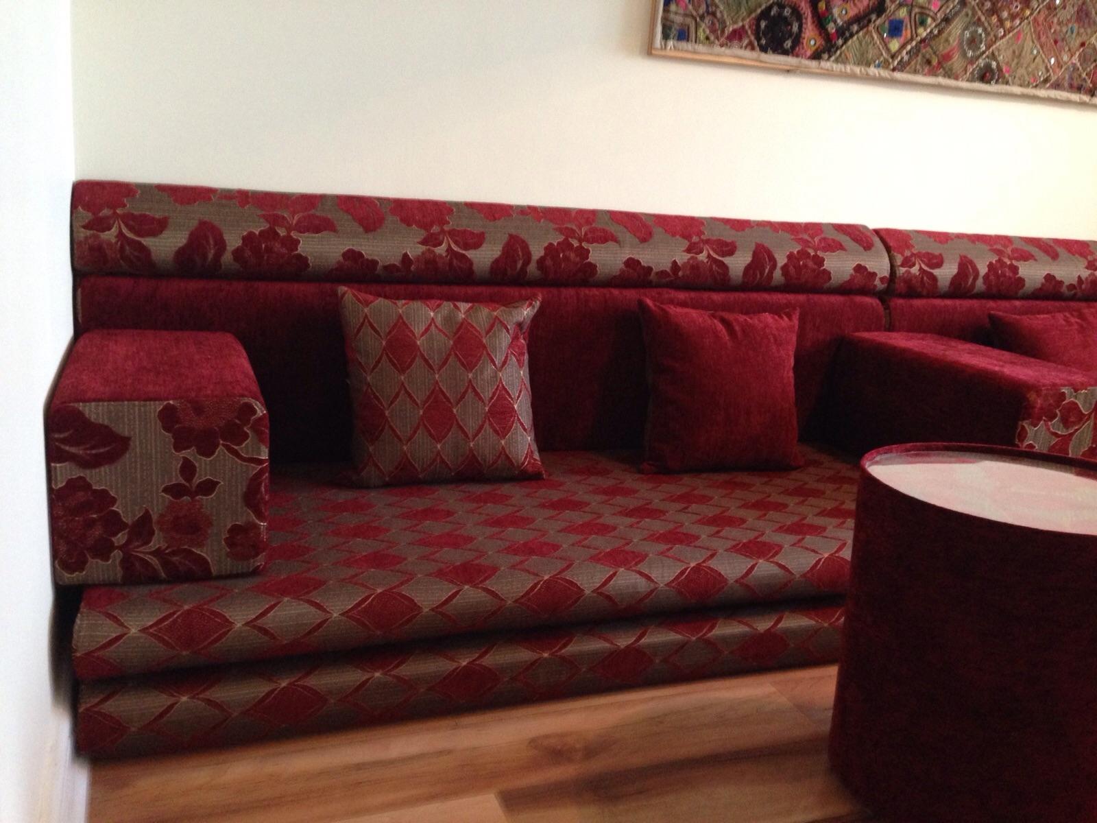 floor seating sofa uk cama chaise longue con arcon 15 photos moroccan cushions ideas