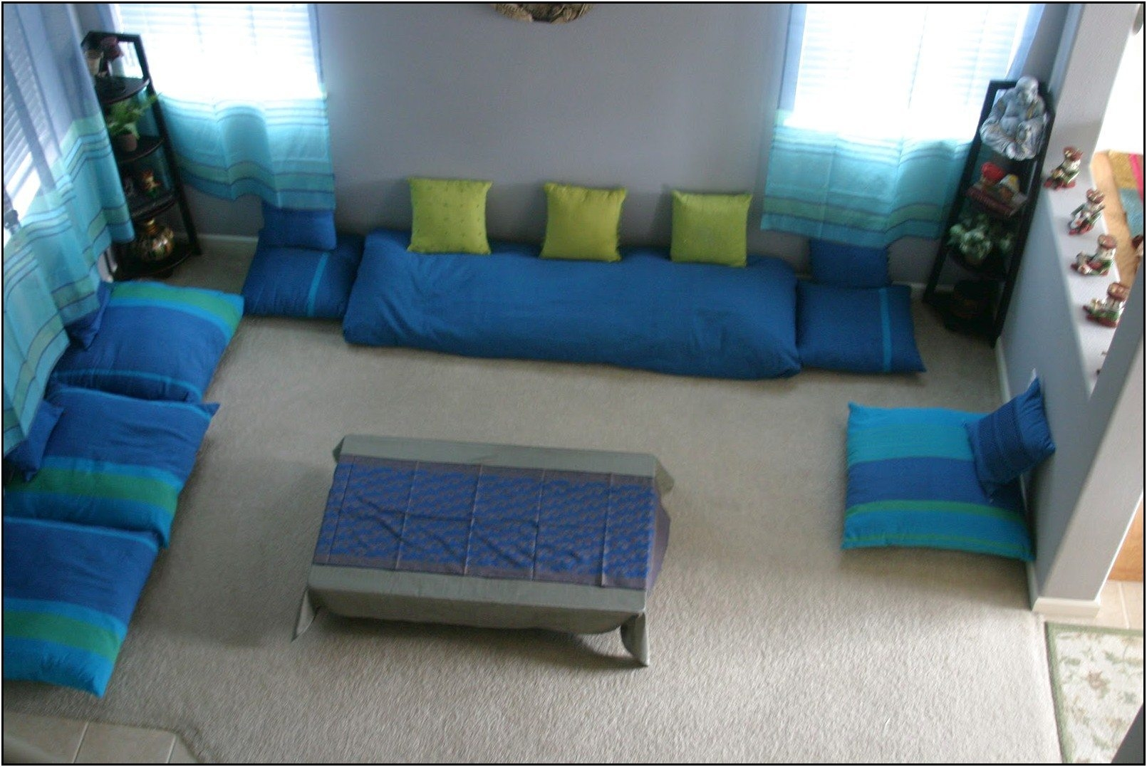 15 Photos DIY Moroccan Floor Seating  Sofa Ideas