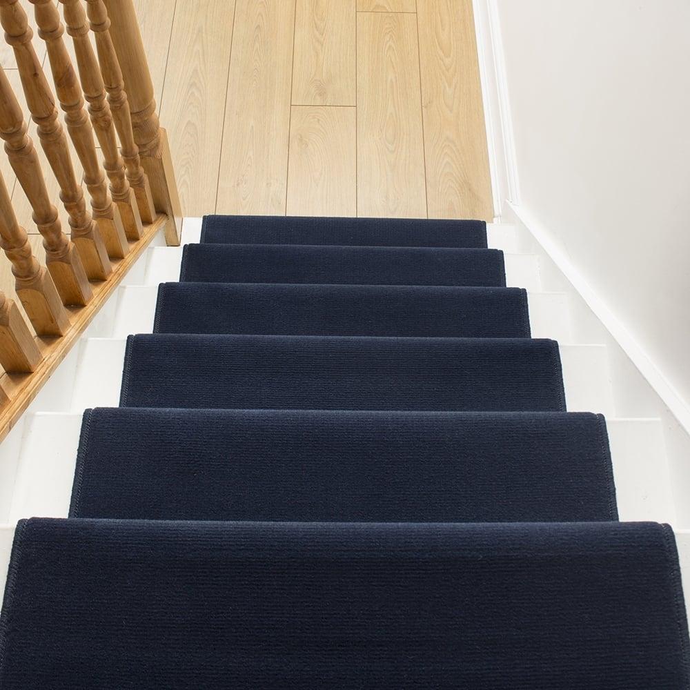 Navy Blue Stair Runner Carpet