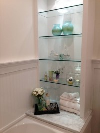 15+ Living Room Glass Shelves