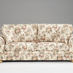 Blue Fl Sofa How To Make Set With Paper Flower Print Fabric Sofas Foter Thesofa