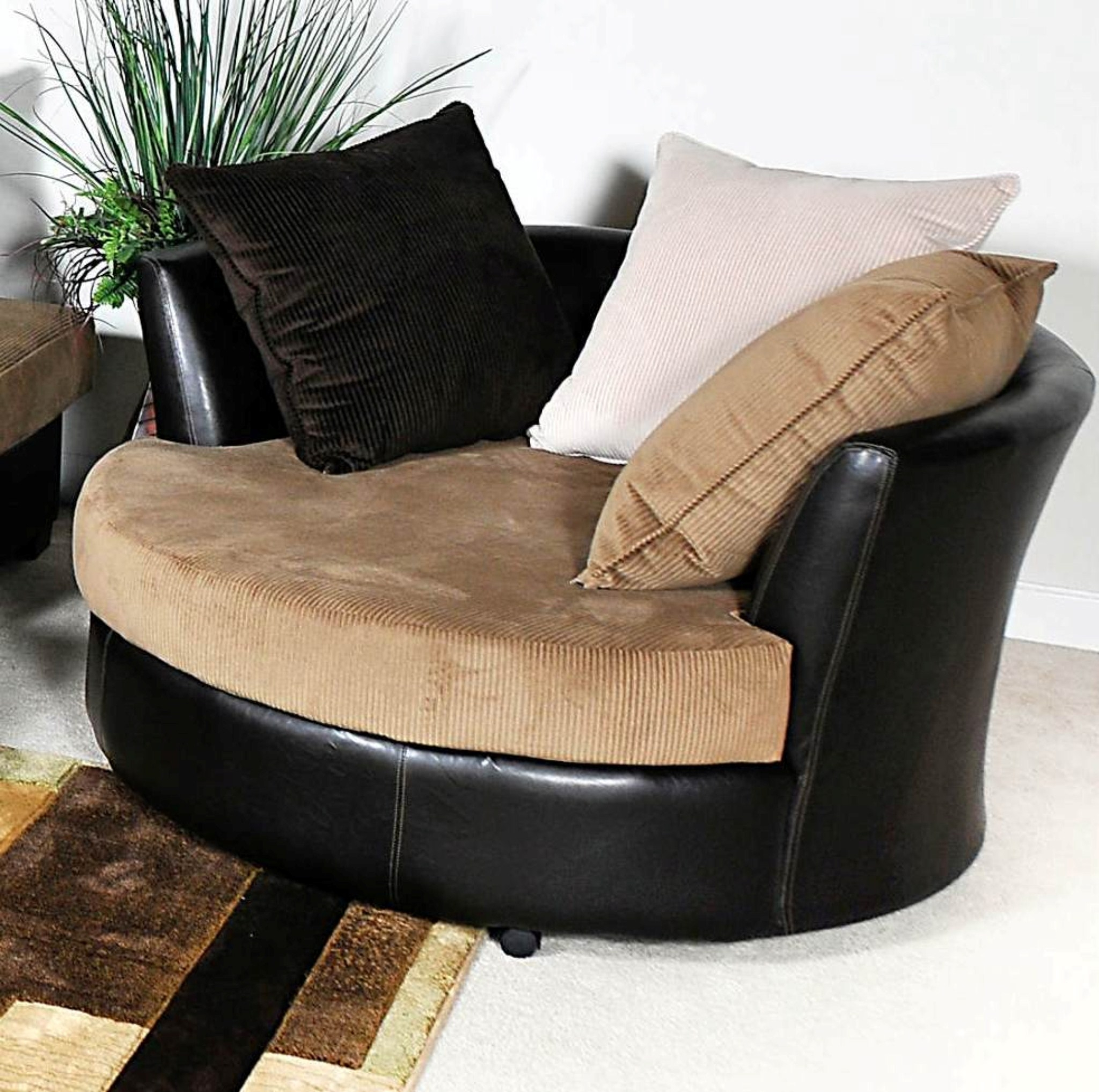 Oversized Circle Chair 15 Ideas Of Round Swivel Sofa Chairs Sofa Ideas