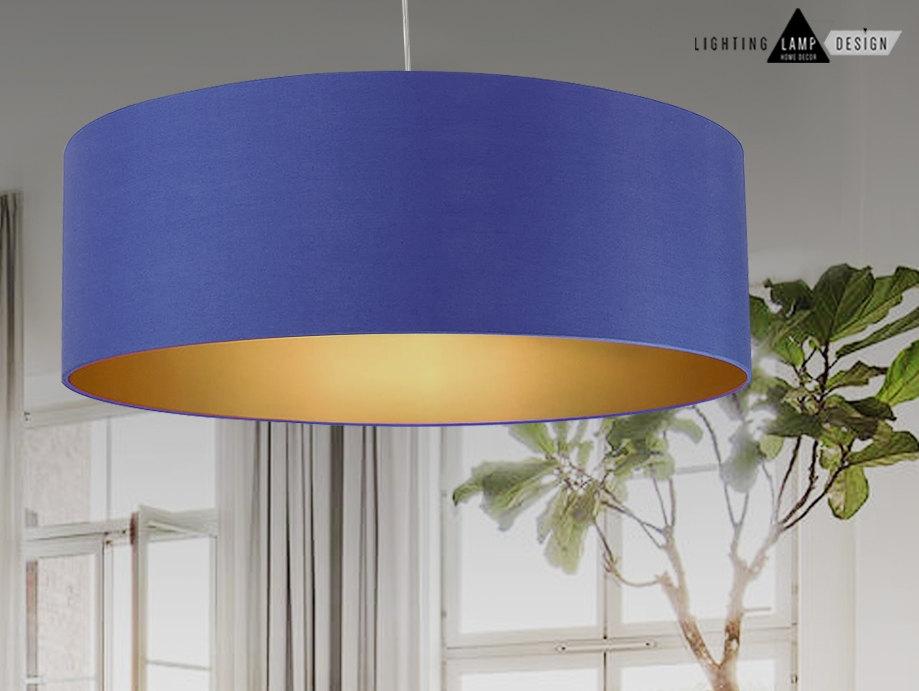 Large Fabric Drum Pendant Lights