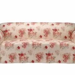Rose Sofa Slipcover Fundas De Lima Chintz Covers Ideas
