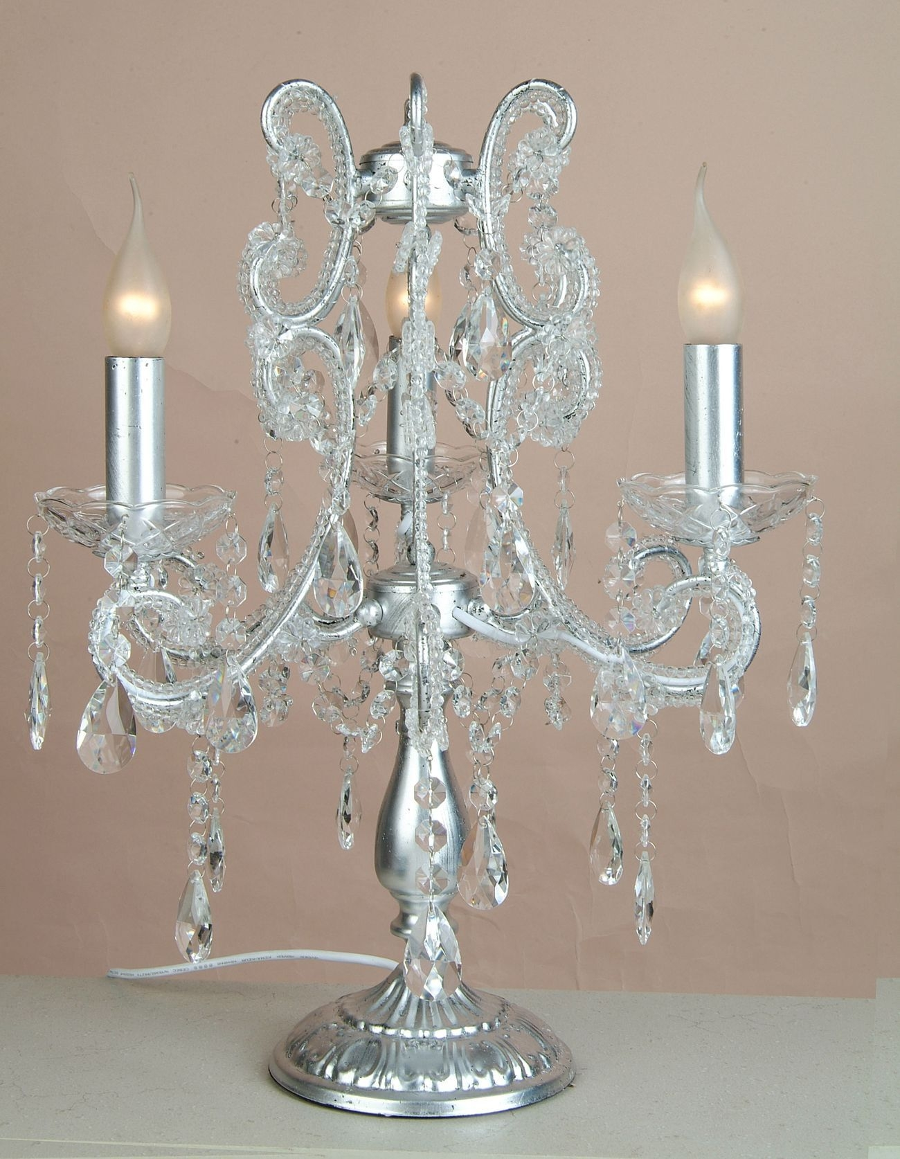 25 Inspirations Small Crystal Chandelier Table Lamps