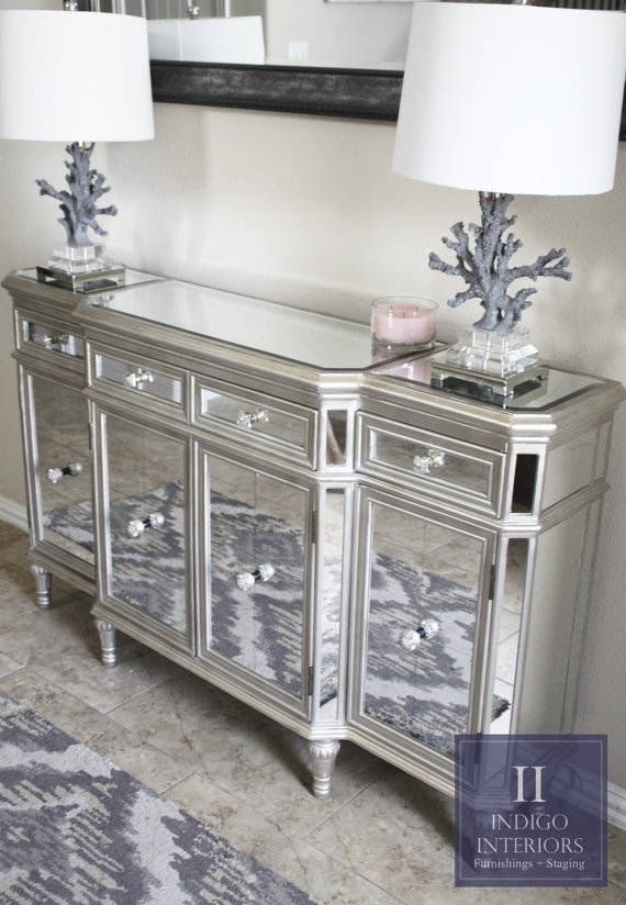living room tv stand ideas with navy blue sofa mirrored stands |