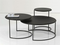 Glass and Black Metal Coffee Table   Coffee Table Ideas